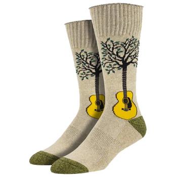 Guitar Neck Of The Woods Men's Crew Socks