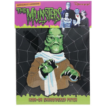 Uncle Gilbert Munster Family Iron On Patch Packaged