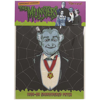 Grandpa Munster Iron On Patch Packaged