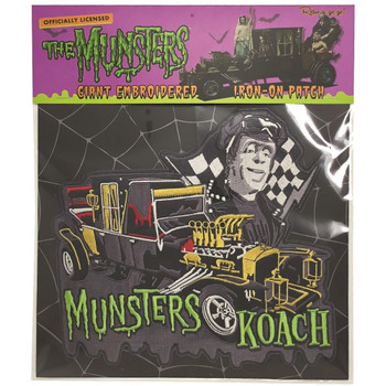 Munsters Koach Iron On Back Patch Packaged