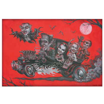 P'gosh Monsters Midnight Ride Munster Family Art Print