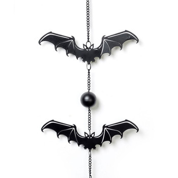 HD12 - Gothic Bat Wind Chime Close Up View