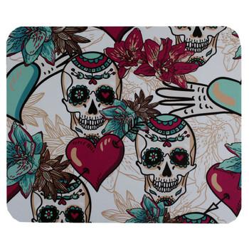 Sugar Skulls and Hearts Mouse Pad