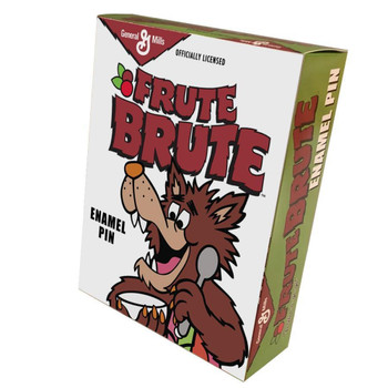 Frute Brute Wolf Portrait Enamel Pin box view