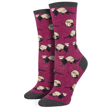 Ferret Frenzy Women's Crew Socks