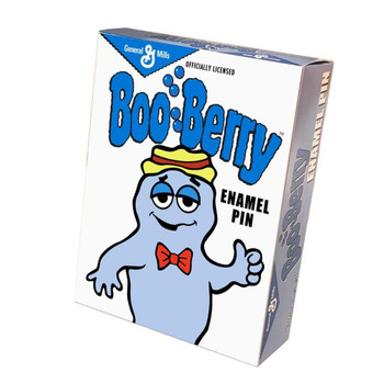 General Mills Boo Berry Portrait Enamel Pin Collectors Box