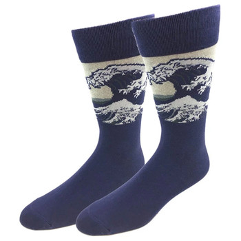 Ocean Big Wave Men's Crew Socks