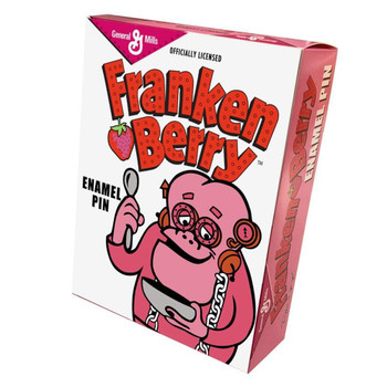 General Mills Franken Berry Portrait Enamel Pin Collectors Box