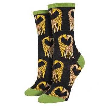 Longneck Love Giraffe Women's Crew Socks
