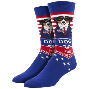 Dog For President Men's Crew Socks