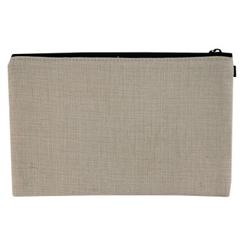 Linen Cosmetic Bag Pouch back view