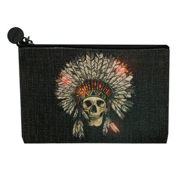 Indian Skull Small Cosmetic Bag