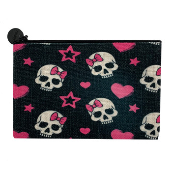Girly Skull Small Cosmetic Bag