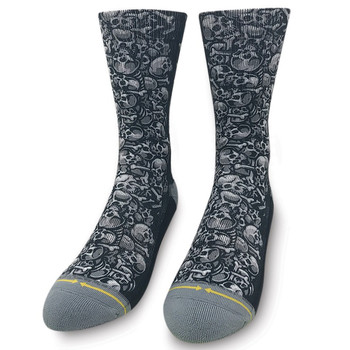 Jimbo Skulls Men's Crew Socks foot view
