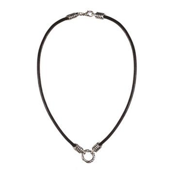 BICO Pacific Black Leather Cord Necklace