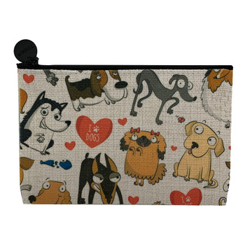I Love Dogs Small Makeup Cosmetic Bag