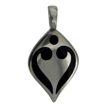 "BICO Australia Jewelry Pewter ""HEART'S GLOW"" Pendant Heart Tribal Surf BT13"