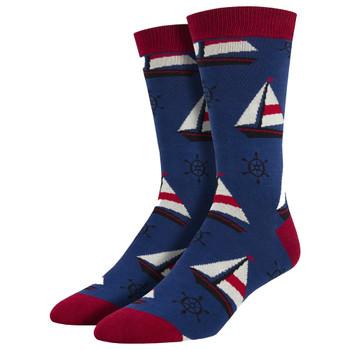 Sailboats Men's Crew Socks