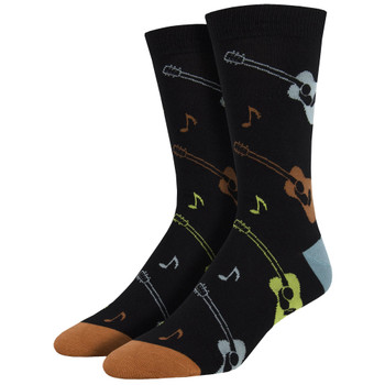 Listen To The Music Men's Bamboo Crew Socks