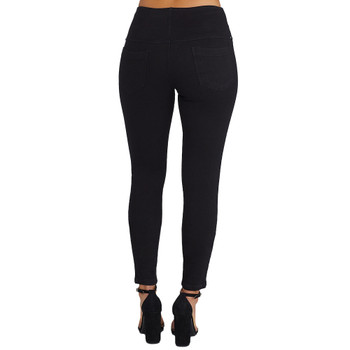 Lysse Black Denim Leggings back view
