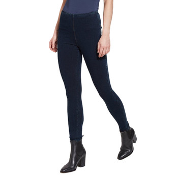 Lysse Indigo Denim Tight Ankle Legging side view