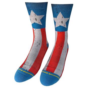 American Flag Men's Crew Socks front view