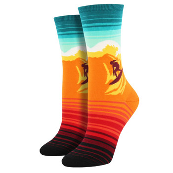 Catch A Wave Women's Crew Socks