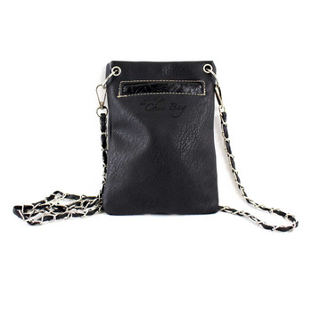 Cross and Wings Black Crossbody Bag back view