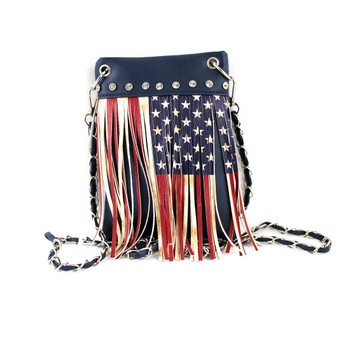 American Flag Fringe Crossbody Bag