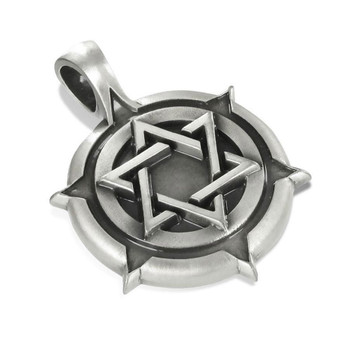 STAR OF DAVID Pewter Pendant