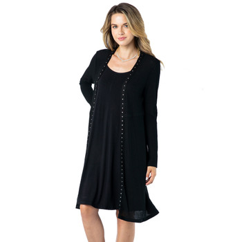 Vocal Apparel Long Cardigan Sweater front view