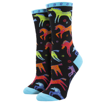 Dancing Horses Women's Crew Socks