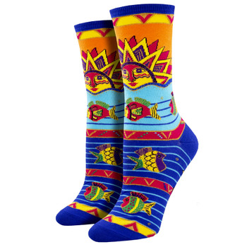 Sun Water Fish Women's Crew Socks