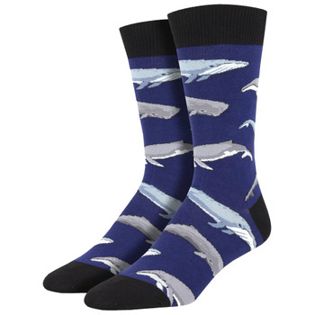 Humpback Whales Men's Crew Socks