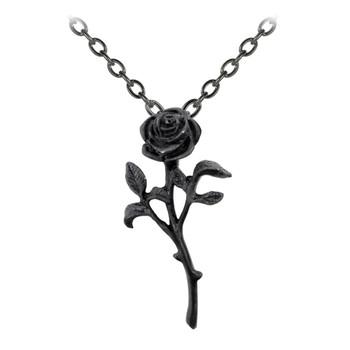 P695 - The Romance of The Black Rose Pendant