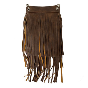 Chic Bag Brown Fringe Crossbody Purse front view
