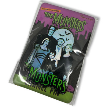The Munsters Family Collectable Pin packaging view