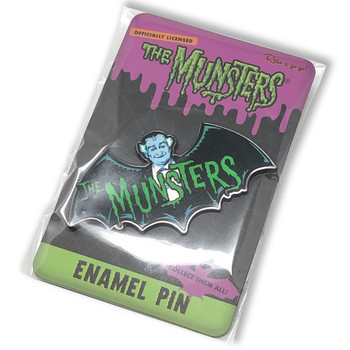 The Munster's Bat Collectable Pin packaging view