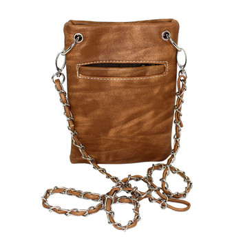 Chic Bag Crossbody Purse Brown back view