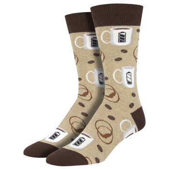 Refuel Coffee Mugs Men's Crew Socks