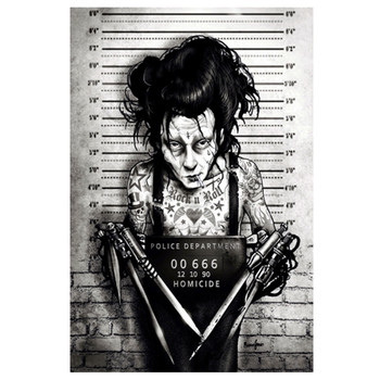 Marcus Jones Eddie Scissorhands Mugshot Art Print