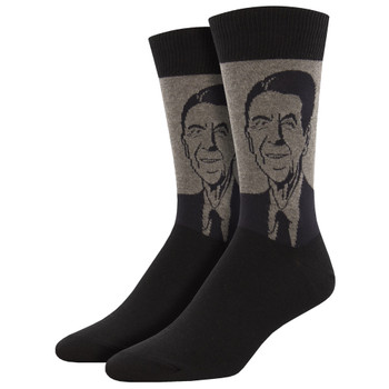 President Ronald Reagan Men's Crew Socks