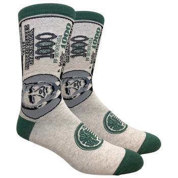 $1000 Bill Donald Trump Men's Crew Socks