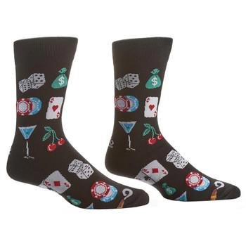 High Roller Gamblers Men's Crew Socks