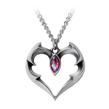 P900 Bat Heart Pendant Necklace