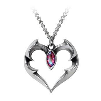 P900 Bat Heart Pendant Necklace