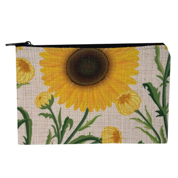 Spring Time Sunflowers Small Zippered Bag