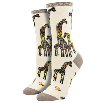 Laurel Burch Giraffe Family Women's Crew Socks