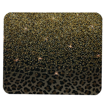 Leopard Print and Glitter Mouse Pad
