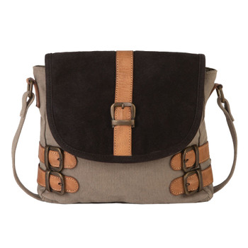 Mona B Buckled Up Crossbody Purse front view